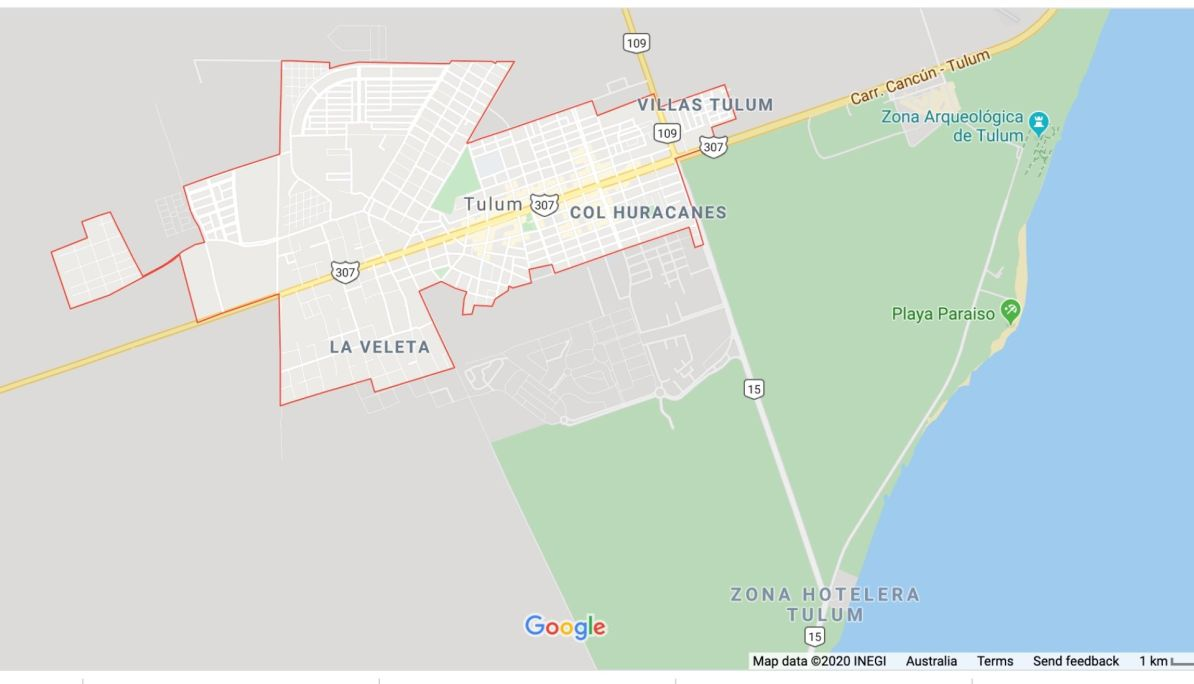 Tulum City Maps