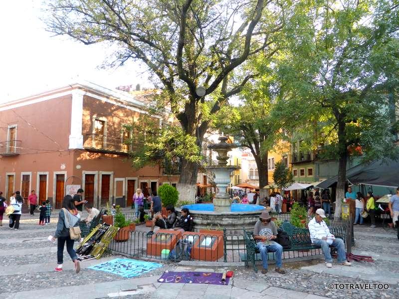 The Plazas in Guanajuato