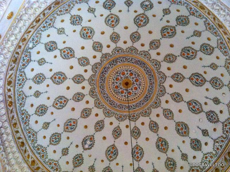 The Ceiling Inside the Library of Ahmed III at the Topkapi Palace