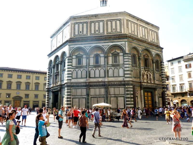 The Baptistery in the Piazza del Duomo