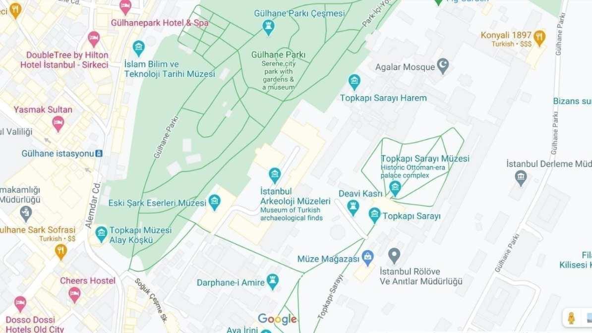Topkapi Palace Map