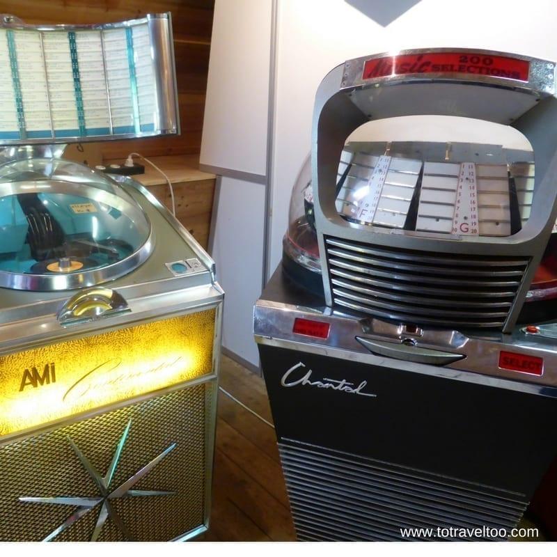 Classic jukeboxes at Sparreholm Castle Sormland region Sweden