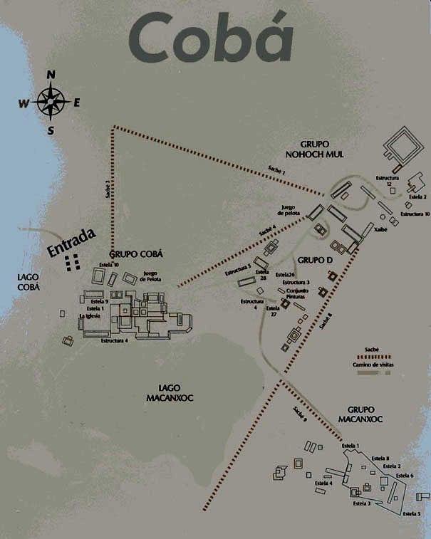 Coba Ruina Map