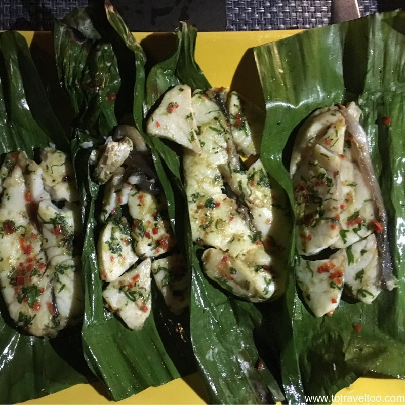 Signature Dish - Sea Bass on Hot Stones - luxury escape in Vietnam