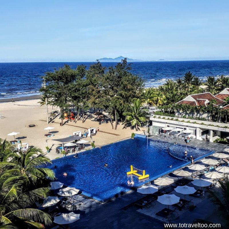 Stunning View of the Pullman Danang Beach Resort - luxury escape in Vietnam