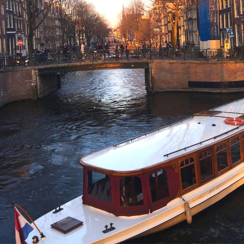 Brunch on the water in Amsterdam
