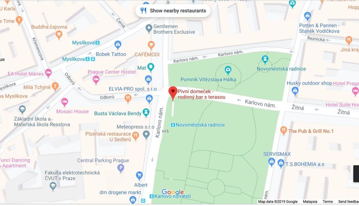Map location of Rodinny Bar s Terasou