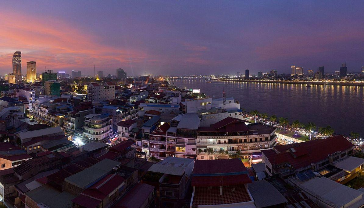 The city of Phnom Penh
