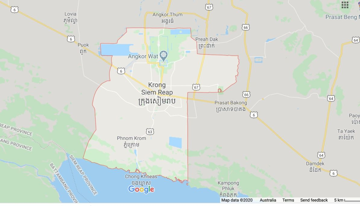Siem Reap Map