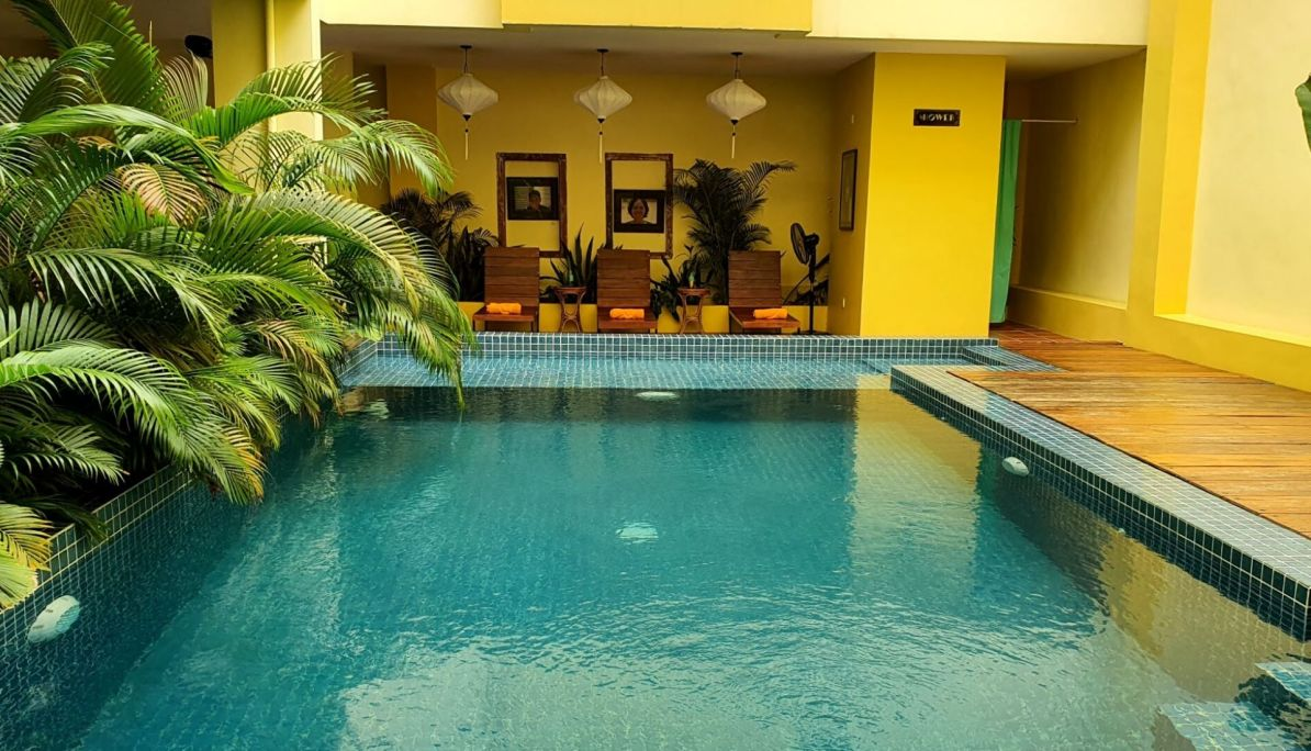 Pool at Old Cinema Hotel Kampot