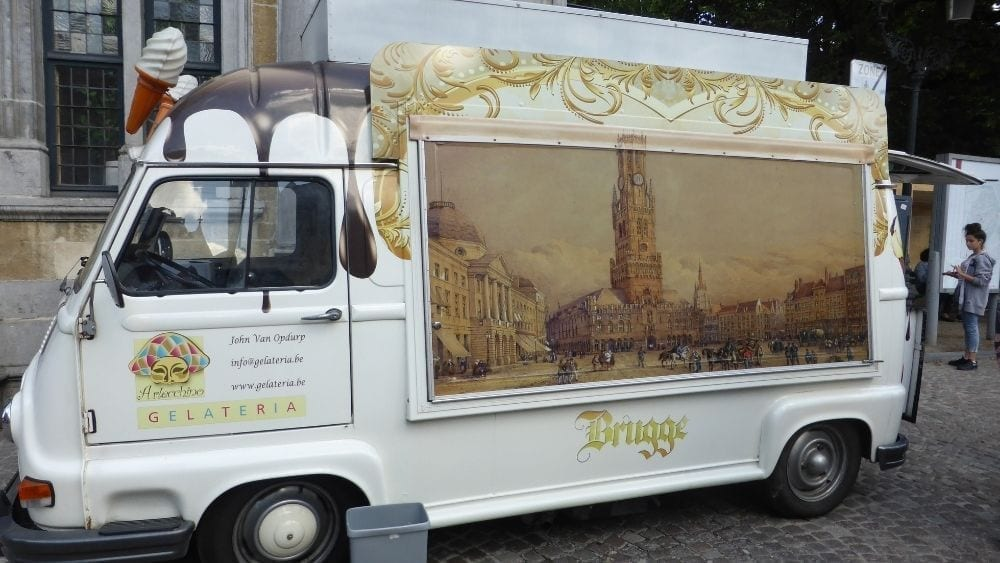 Best waffle food truck in Bruges
