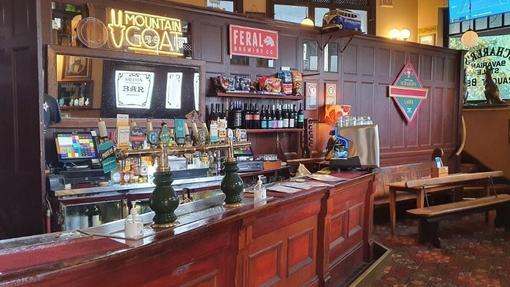 The bar at the Australian Heritage Hotel