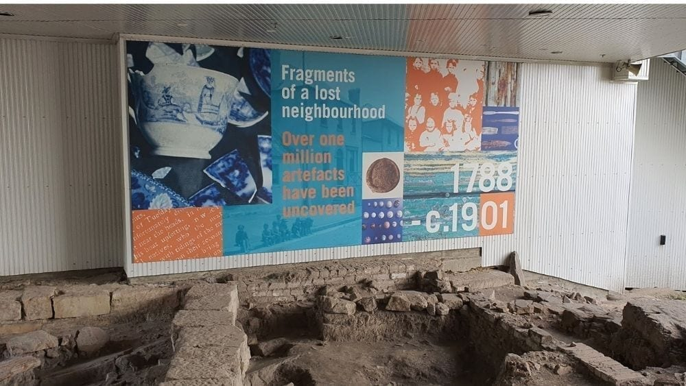 Ground floor of the YHA - archaeological dig