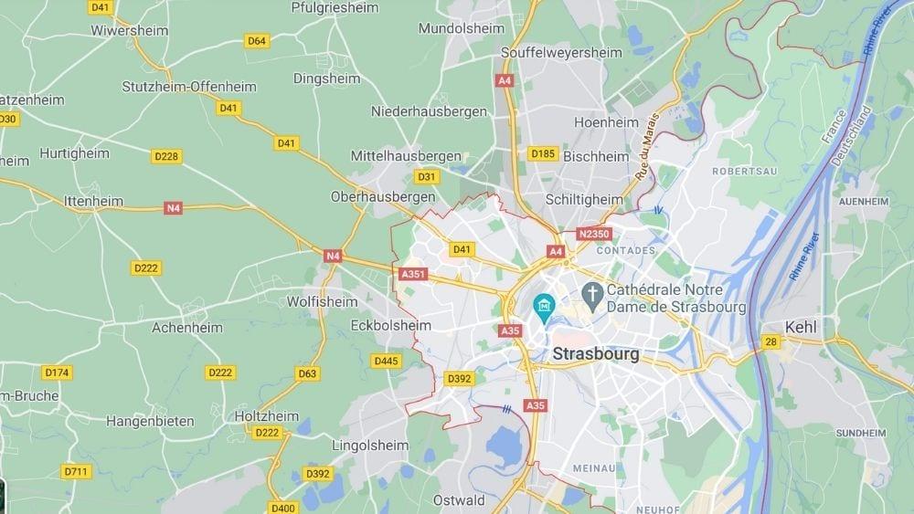 Strasbourg City Map