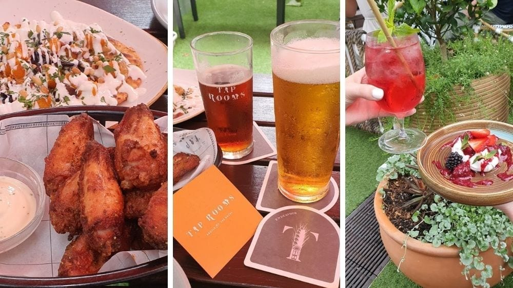 Dining options at the Tap Room