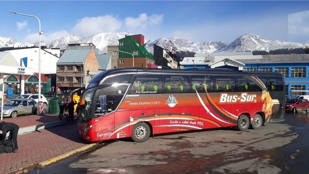 Bus Sur transport from Ushuaia to Puntas Arenas