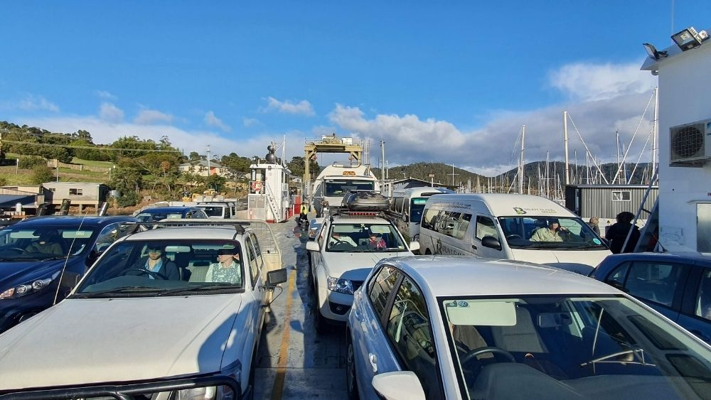 On the Bruny Island Car Ferry