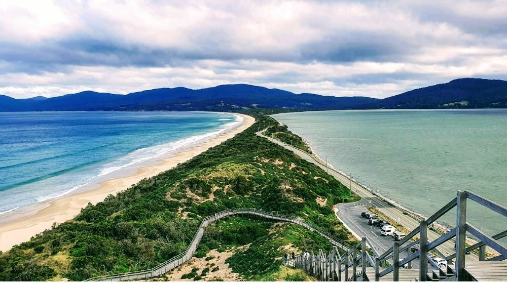 View of The Neck on Bruny Island