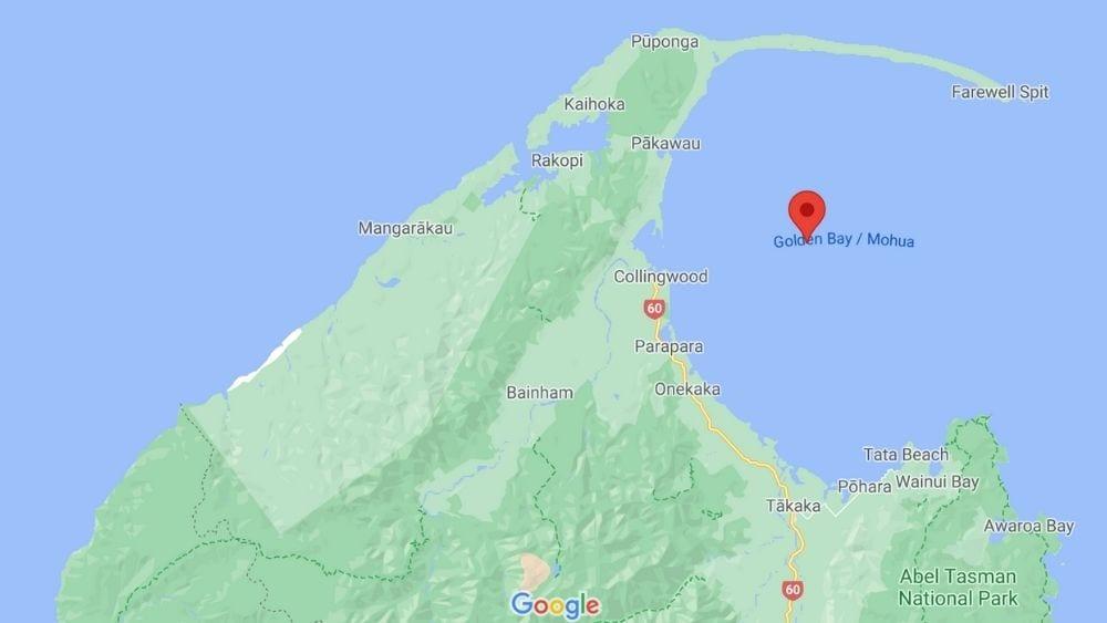 Map of Golden Bay New Zealand