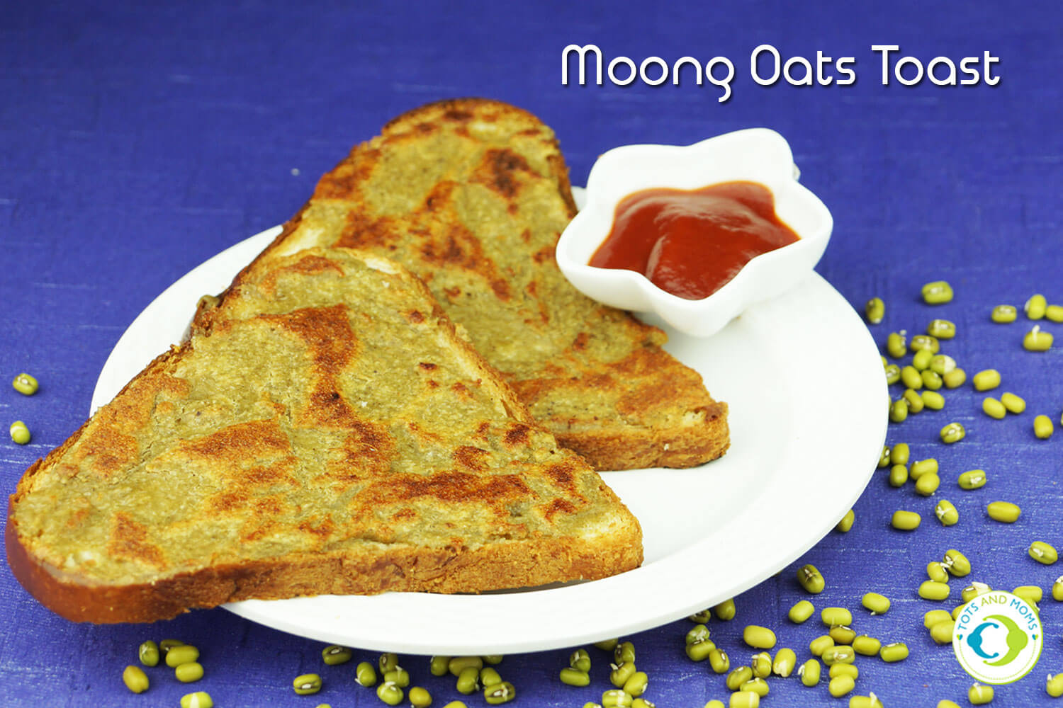 MOONG OATS TOAST for Toddlers, Kids & Family breakfast,snack for kids and adults