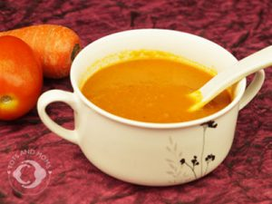 carrot tomato soup for cough or cold