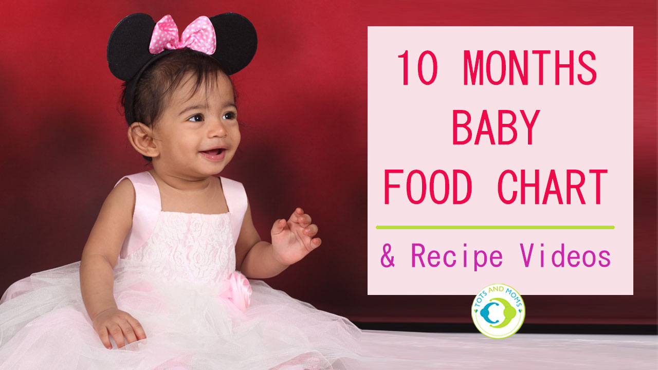 10 MONTHS INDIAN BABY FOOD CHART with Recipe Videos