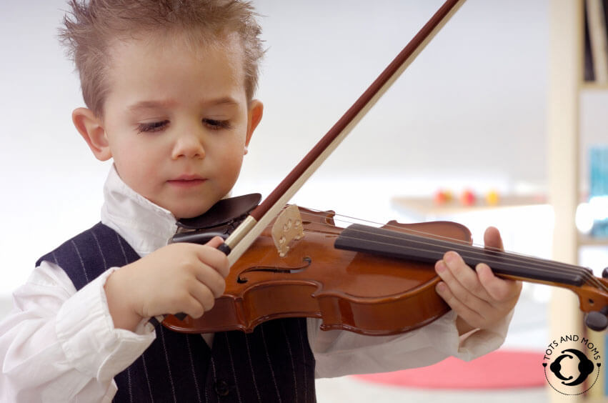Instrumental music helps in channelizing the toddlers energy constructively