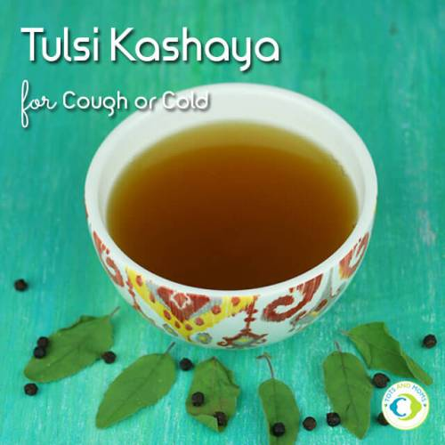 How to make Tulsi Kashaya for babies kids cold cough remedy