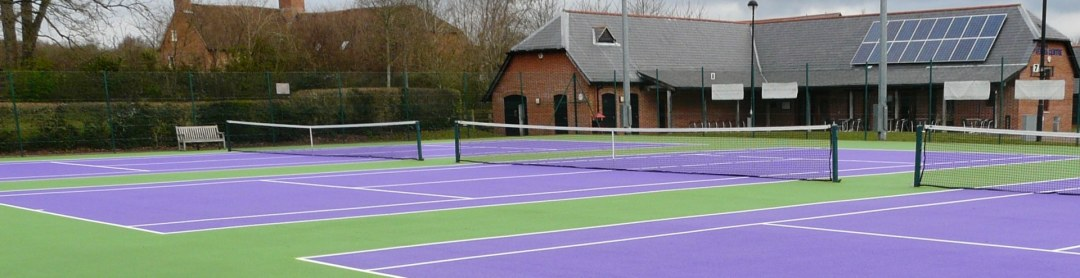 An early-morning view of the Totton & Eling Tennis Centre, before our lovely customers arrive!