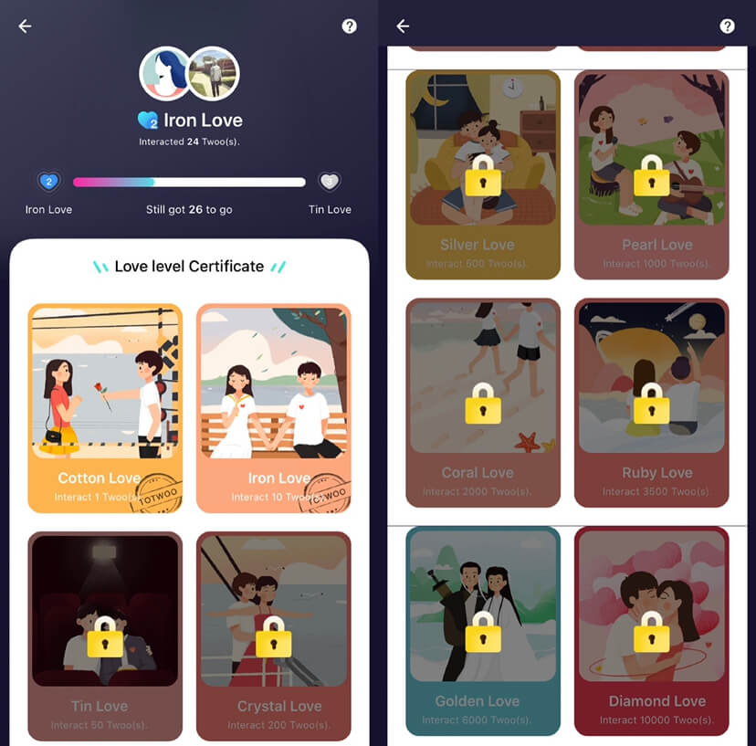 Totwoo couple jewelry app