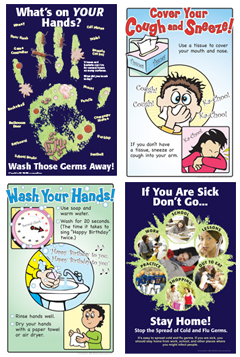 Infection And Germ Control Educational Materials Posters