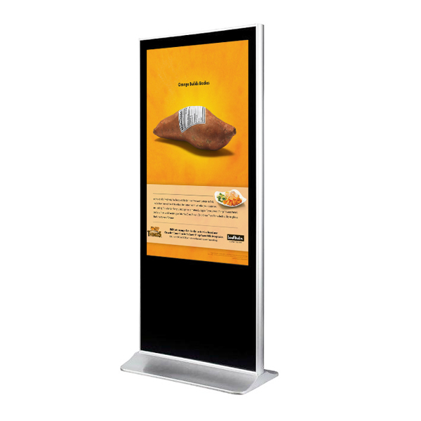 "Vertical Touchscreen indoor 65"" (Schrägansicht)"