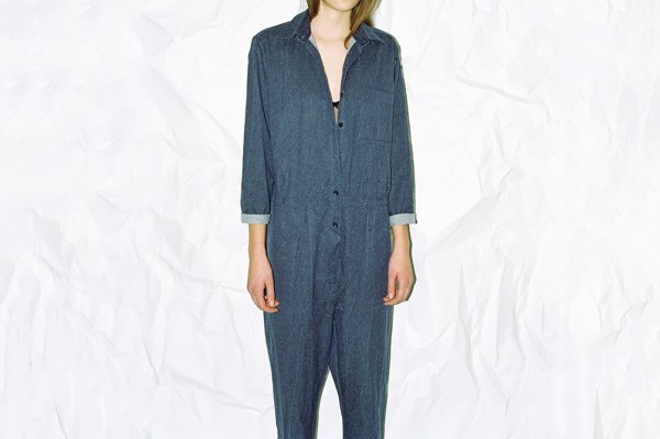 Shirt Jumpsuit - Silk Denim - 8850-14a - Shirt Jumpsuit-1005x670h