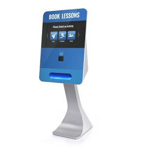 Advantages of a card printing kiosk wristband touch screen kiosk SmartCurve touch screen kiosk