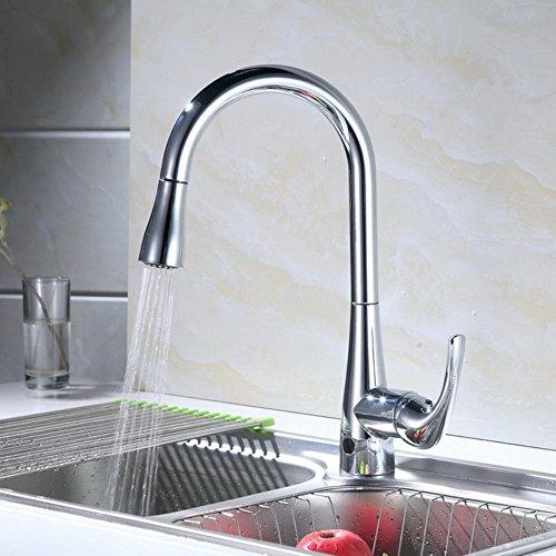 RunFine RF411001 Single Handle Deck Mounted Pull Down Automatic Sensor Kitchen  Faucet