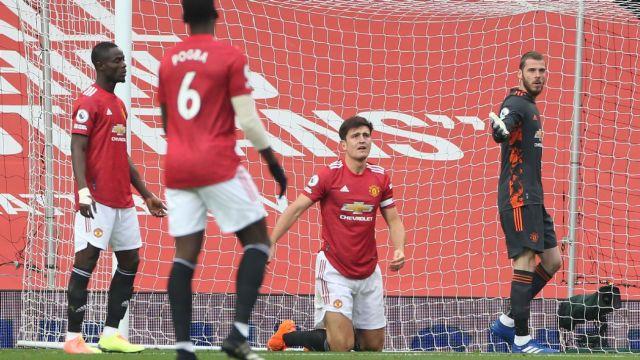 Maguire during his disasterclass against Tottenham