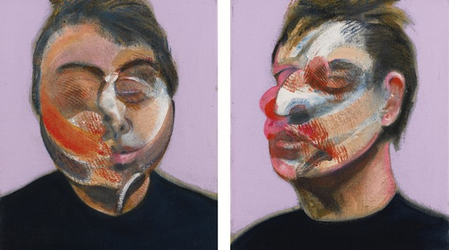 Francis Bacon, Two Studies for a Self-Portrait (1970). Cortesia Sotheby's