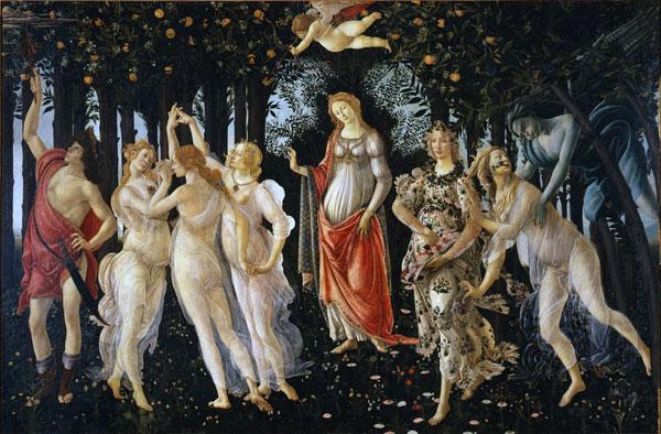 Primavera (c. 1482), de Sandro Botticelli
