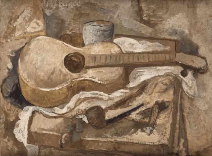 Natureza morta com violão (c. 1944), Lasar Segall