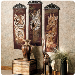 safari decorations for living room wall shelves small style home decorating and tips touch of class area rugs art