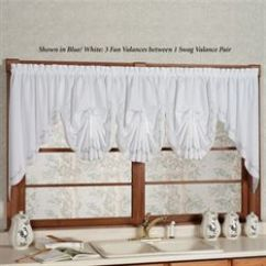 Kitchen Window Valances Home Depot Flooring Curtains Tiers And Valance Treatments Touch Of Class Forget Me Not Embroidered