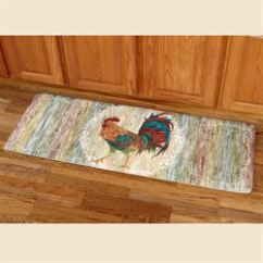 Kitchen Floor Runner Appliance Reviews Mats Touch Of Class Rooster Strut Mat Multi Jewel 20 X 55