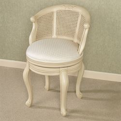 antique vanity chair vibrating baby bouncer chairs touch of class belhurst ivory swivel