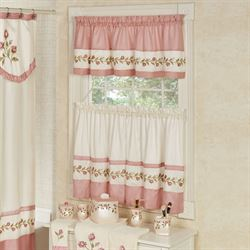 curtains kitchen ninja window treatments touch of class blush rose tier and valance set