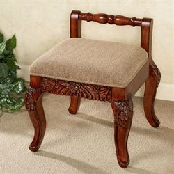 antique vanity chair upholstered posture victoriana cushioned wood