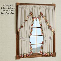 kitchen curtains tiers and valance