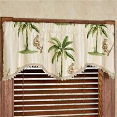 Living Room Window Valances Decorating Ideas With Gray Walls Touch Of Class Tropica Palm Tree Shaped Valance