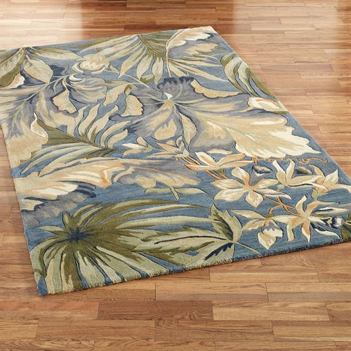 Paradise Blue Tropical Area Rugs