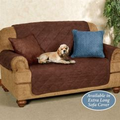 Quilted Microsuede Sofa Cover Chesterfield Sofas Uk Cheap Mason Microfiber Furniture Protectors Pet