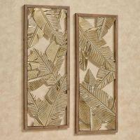 Palm Leaf Openwork Wall Art Set